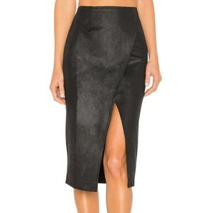 BNWT Free People Whitney Faux Leather Pencil Skirt